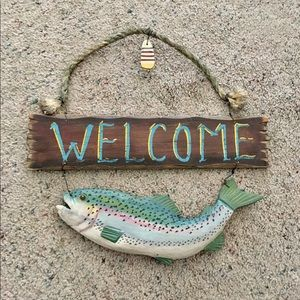Other - Rustic Fish Themed Welcome Sign